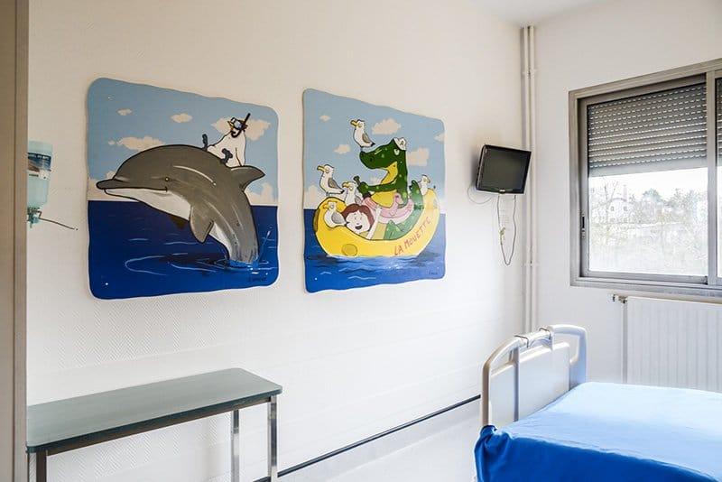 chambre d'enfant clinique du val d'Ouest - Fr La Marca chirurgie plastique de l'enfant